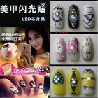 NFC Nail Art Tips DIY Sticker LED Light Flash Phone Scintillation Decal