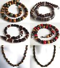 """ETHNIC INSPIRED: HANDMADE MENS NECKLACE CHOOSE SIZE 16-32"""" SURFER AFRICAN STYLE"""