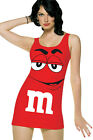 M & M Tunic Tank Dress Costume, Cosplay Fancy Dress - One Size (AU 8 - 12)