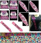 Flashing18th Birthday Girl Tiara Sash Banner 21st Age 18 21 30 40 50 60 Years