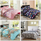 Floral Striped Double/Queen/King Size Bed Quilt/Doona/Duvet Cover Set New Cotton