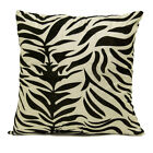 "18"" (45cm) Faux Silk Flocking Zebra Sofa Scatter Cushion Cover + FILLED Option"