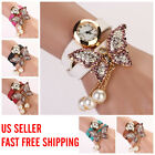Women Vintage Fashion butterfly Bracelet Dial Quartz Dress Wrist Analog Watch
