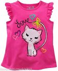 JUMPING BEANS Girls ~ KITTEN Eyelet Sleeve Tank Top ~ Pink ~ 24 months ~ NEW