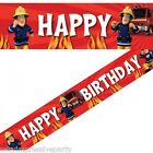 Fireman Sam birthday party - Foil Banner Repeats 5 Times 4.5 M