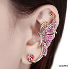 Hot Selling Rhinestone Butterfly Cartilage Ear Cuff Earring  Ear Cuff Clip New