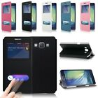 Window View Luxury Flip Leather Case Cover Stand For Samsung Galaxy A3 A5 A7 NEW