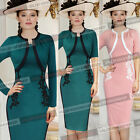 Womens Elegant Vintage Colorblock Crochet Party Evening Formal Wiggle Dress 415