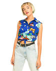 Motel Denie Crop Tie Shirt in Butterfly Daze