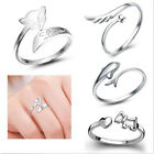 New 5 Styles 925 Silver Women Adjustable Opening Lady Finger Ring  0150