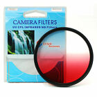 Graduated Red Color Lens Filter Screw Mount 46/49/52/55/58/62/67/72/77/82 mm