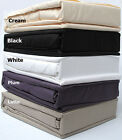 CREAM BLACK PLUM -  4 Pce EMBOSSED Microfiber Sheet Set - DOUBLE QUEEN