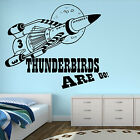 THUNDERBIRDS ARE GO WALL ART STICKER BOYS VINYL TRANSFER BEDROOM GIFT