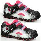 GIRLS HELLO KITTY TRAINERS NEW KIDS INFANTS VELCRO BRANDED TRAINERS SHOES SIZE