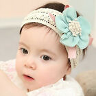 Baby Infant Girls Headband Fabric Elastic Floral Flower Hair Accessories 6-36M