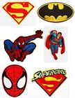 SUPERHEROES Spiderman Superman Batman Sew Iron On Embroidered Patch Badge