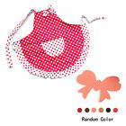 New Polka Dot Womens Bowknot Kitchen Bib Apron Dress w/ Pocket + Bangs Holder