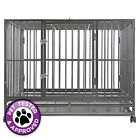 Heavy-Duty Metal Dog Crate Cage - Indoor Outdoor Kennel Pen / 3 Sizes & 2 Colors