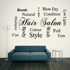 HAIR SALON Collage Wall Art Vinyl Sticker Decal Hairdressers Beauty Salon Shop