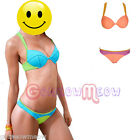 Womens Mixed Colors Push Up Padded Bra Beach Bikini Set Bathing Suit Swimwear
