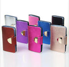New Candy Color Fashion Women 100% Genuine Leather Men's Card Holder Case