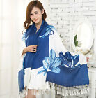 Free Shipping 2014 New Winter Fringe Women's Cotton Printing Shawl Scarf Wrap