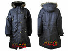 Ladies Women's Plus Size Black Fur Hooded Hood Winter LONG COAT JACKET