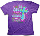 Christian T-Shirt I CAN DO ALL THINGS CHRIST Cherished Girl Kerusso Womens NEW