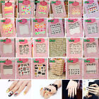 Manicure 3D Design Acrylic DIY Polish Stickers Nail Decals Wraps Gift Decor