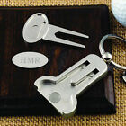 Personalised Golf Ball Marker Pitch Divot Repair Tool Keyring Engraved Gift