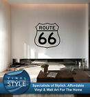 ROUTE 66 SIGN DECAL DECOR STICKER WALL ART GRAPHIC VARIOUS COLOUR