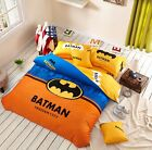 ** Batman Arkham City Queen Bed Quilt Cover Set - Flat or Fitted Sheet **