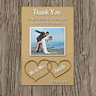 Personalised Wedding Photo Thank You Cards X-LARGE MAGNETS (Beach Heart In Sand)