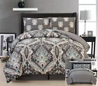 SOFT EGYPTIAN COTON TOUCH 4 PIECE REVERSIBLE COMFORTER BED SET ALL SIZES & COLOR image