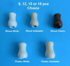 Cord Wood Plastic Tassel Drops Pull End For Blinds Shades White Alabaster Cherry
