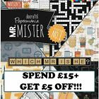 MR MISTER Papermania Father's Day Paper Card Craft Collection FULL RANGE!