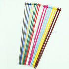 Set 20 Pcs 2.0-6.5mm Multicolor Plastic Knitting Needles Single Pointed Needles