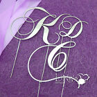11cm Monogram Wedding Cake Topper CPS Letters Silver Black Gold Metal 3 Colours