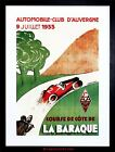 SPORT MOTOR AUTOMOBILE CLUB LA BAROQUE AUVERGNE FRANCE FRAMED PRINT F12X6422