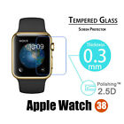 Premium Real Tempered Glass Film Screen Protector For Apple Watch 38mm/42mm
