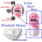 Doppler Fetal Monitor Cute Pink 2.5mhz LCD Screen Prenatal monitor + video cable