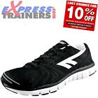 Hi Tec Mens Haraka Running Shoes Gym Workout Trainers Black *AUTHENTIC*