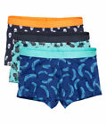 H&M 3 Pack Cotton Stretch TRUNKS Sizes S, M, L, XL NEW Pineapple, Banana, Skull