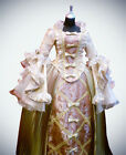 Queen Lady Victorian Pleated Dress Evening Gown French Renaissance Costume