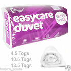 EASYCARE LUXURY SOFT WARM HOLLOWFIBER QUALITY DUVET SINGLE DOUBLE KING ALL TOGS