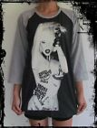 Unisex Lady Gaga Raglan 3/4 Length Sleeve Baseball T-Shirt (Vest Tank-Top)