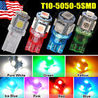 1 5 20 100PCS T10 WEDGE NEW 5050 SMD LED bulb License Plate Tag