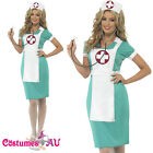 Womens Scrub Nurse Costume Ladies Medical Doctor ER Hospital Fancy Dress Uniform