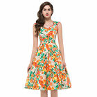 Summer FLORAL Womens Lady New Vintage 1950s Vtg Floral Party Prom Evening Dress