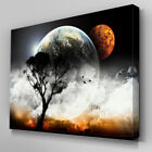C100 Perspective Earth Tree Canvas Wall Art Ready to Hang Picture Print